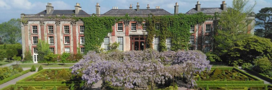 Scenic gardens of Bantry House in Cork, Ireland