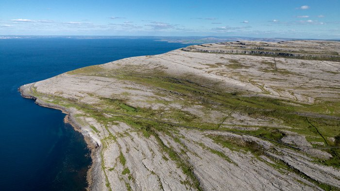 A panoramic view of the Burren Black Head