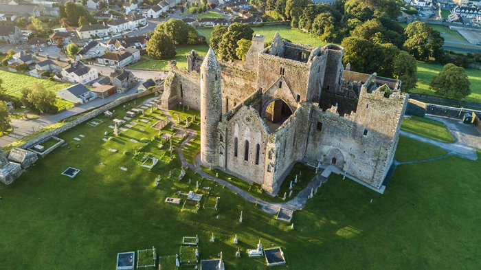 The Rock of Cashel taken from a birds eye view