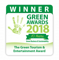 Winner badge for the Irish Green Awards 2018