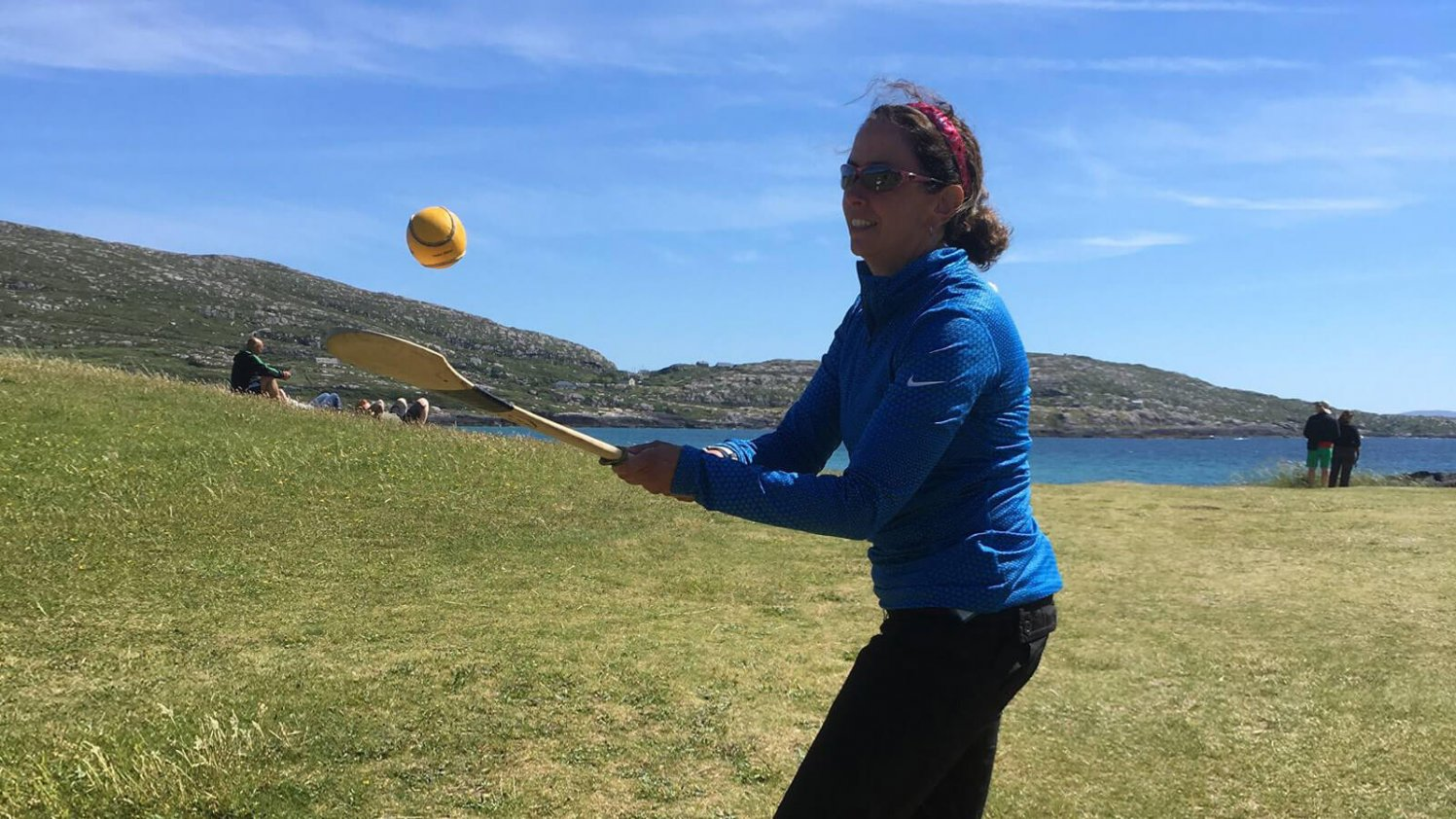 Vagabond guest tries her hand at hurling, Ireland's national sport