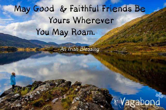 May good and faithful friends be yours wherever you may roam - Irish blessing