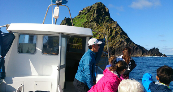 Boat ride over to Skellig Michael