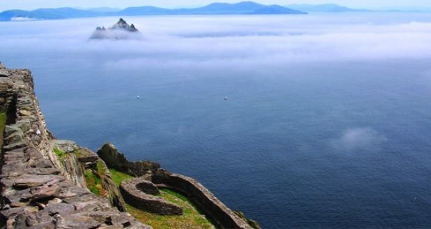 From Skellig Michael with Skellig Beag (Little Skellig) in the distance.