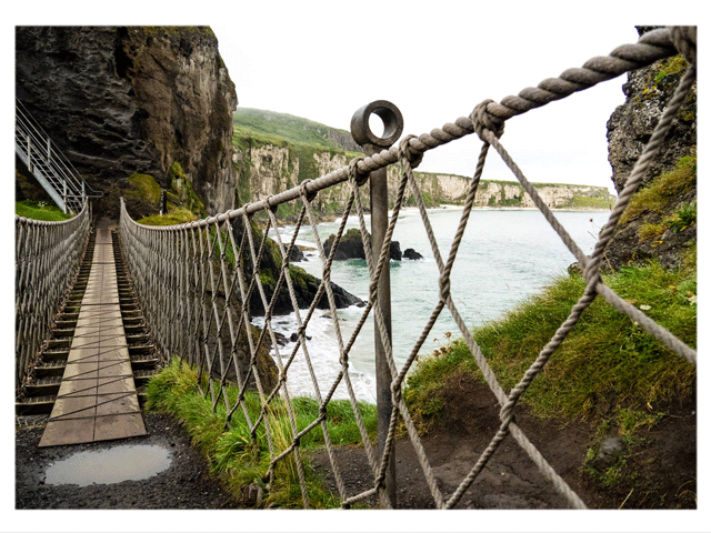 Carrick-a-rede rope bridge. Thanks Jun Damanti for the photo
