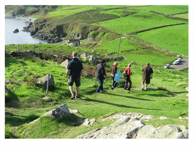 Walking on Torr Head, Antrim Coastline