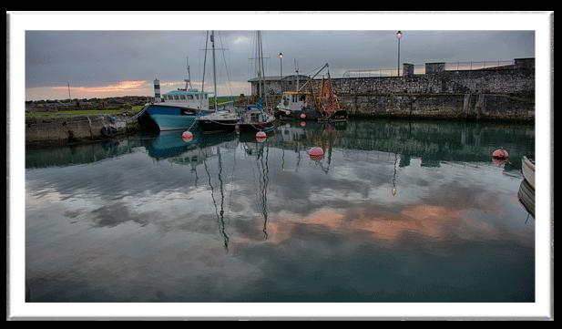 antrim coastline - carnlough harbour