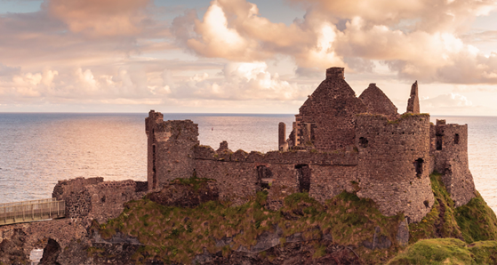 dunluce castle -antrim coastline