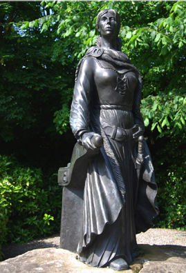 Grace O'Malley statue in Westport House