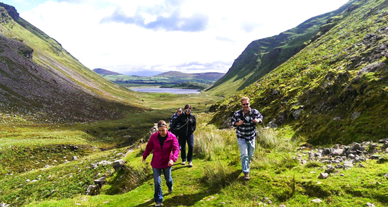 Walk up Annascaul Valley