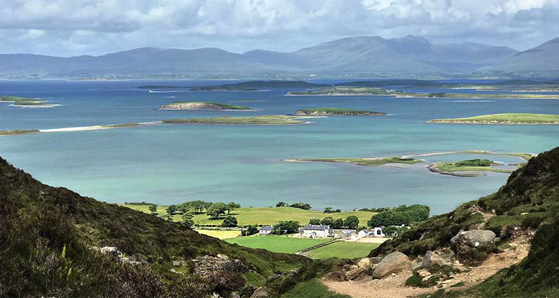 View from Croagh Patrick of Clew Bay