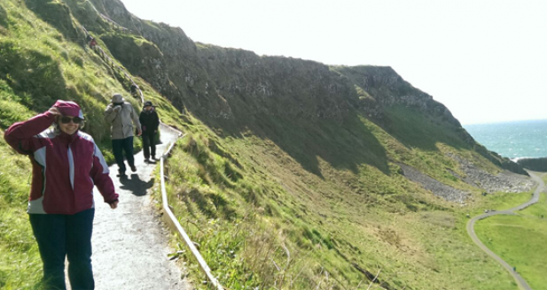 A windy day hiking along the Causeway Coastal Walk