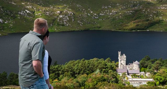 Views of Glenveagh Castle and lake