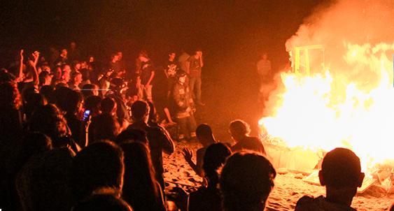 A bonfire in Ireland