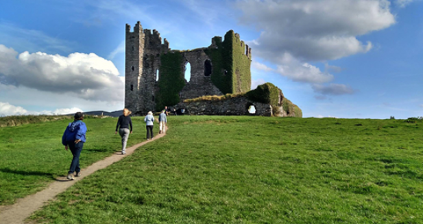 Walking up to Ballycarbery Castle - Irish Castle Ruins