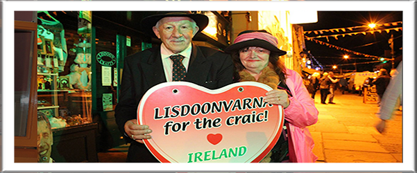 The Lisdoonvarna Match Making Festival runs for all of September.