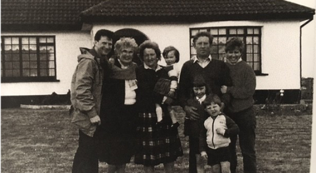 Old photo outside the Ryan household