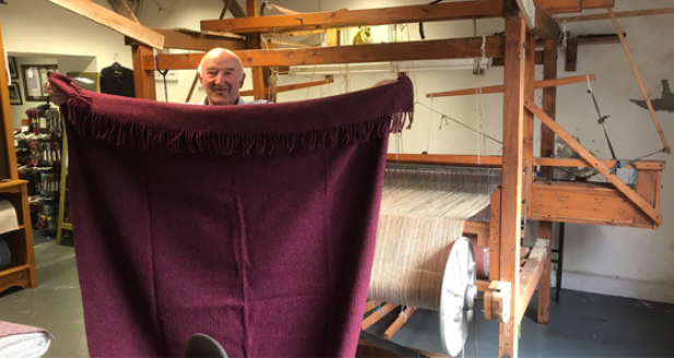 Eddie Doherty hand woven throw