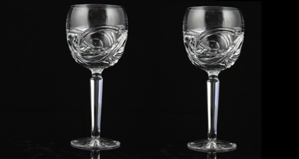 Dingle Crystal Goblets with Celtic Flames