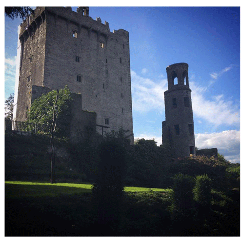 Blarney Castle with ruined tower