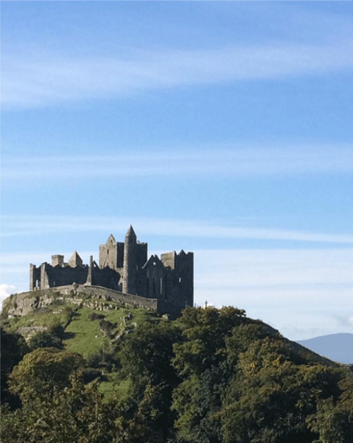 Approach to the incredible Rock of Cashel