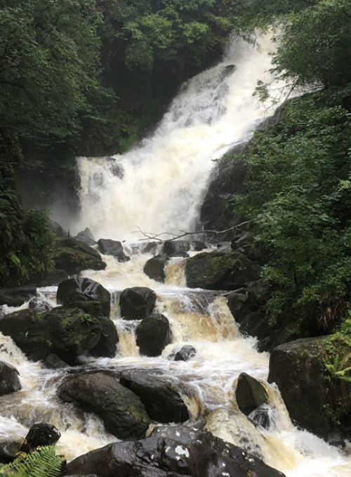 The Torc Waterfall in Killarney National Park