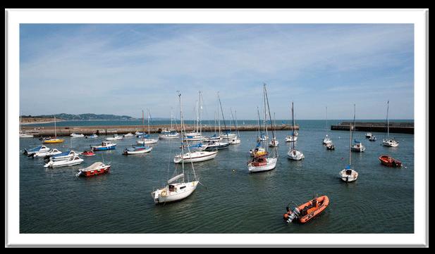 bray harbour - dart coastal views train dublin