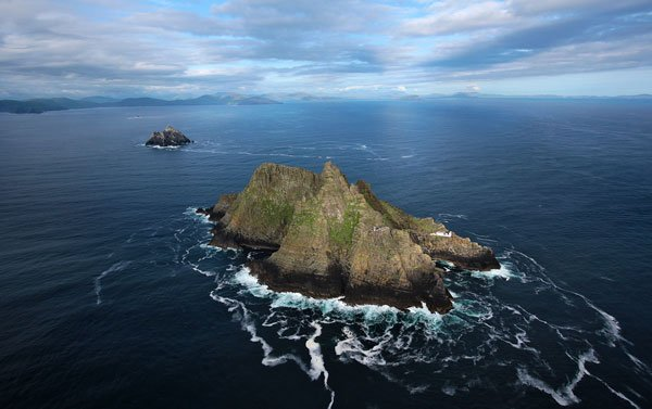 Aerial view of Skellig Michael