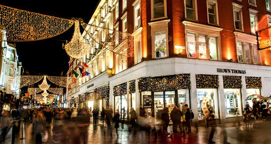Grafton Street, Dublin at Christmas time