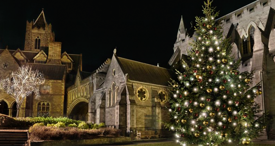 Christ Church Dublin at Christmas time