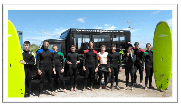 The Boston Crew ready to go surfing on Castlegregory