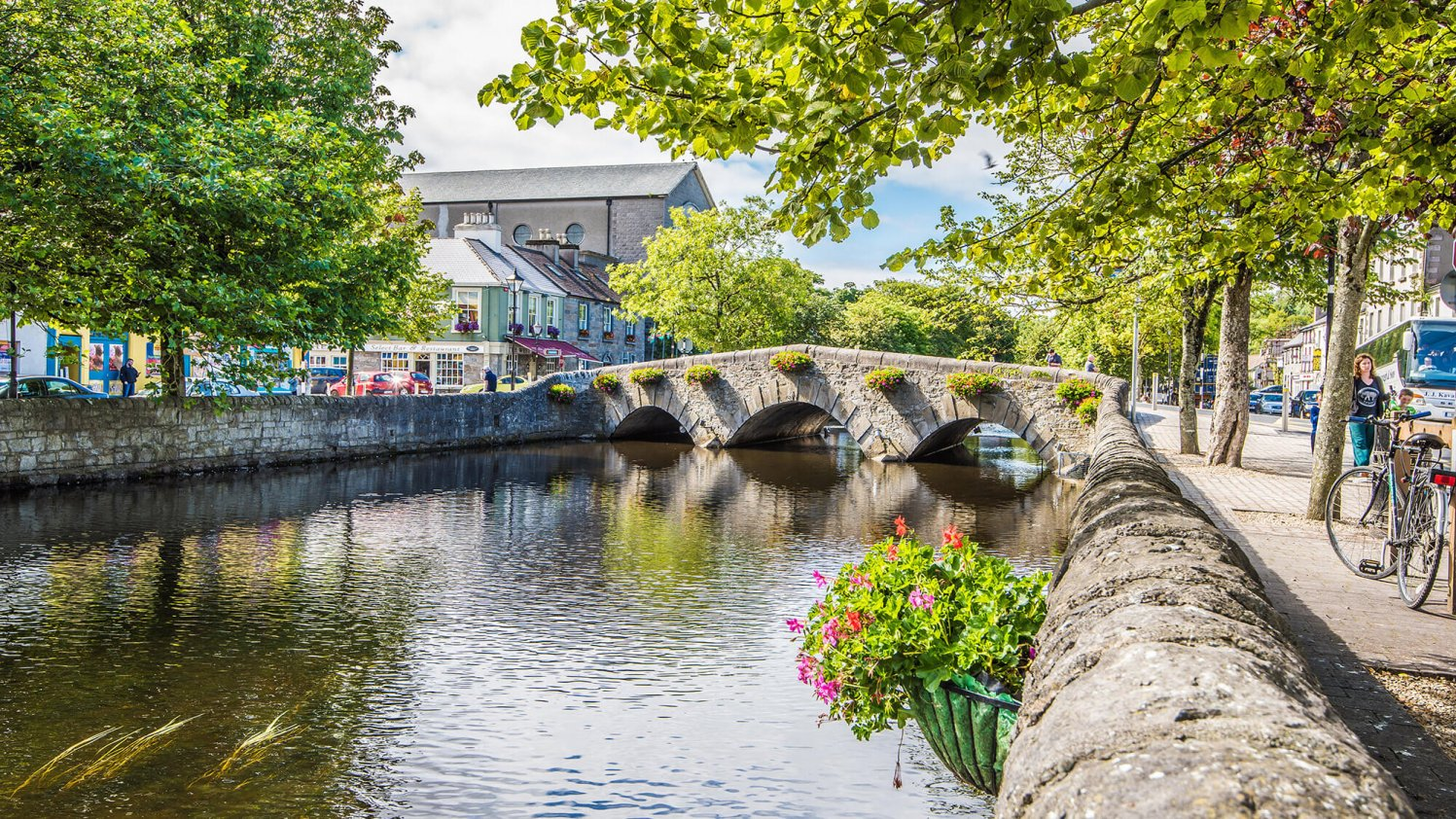 River and bridge in Westport town centre