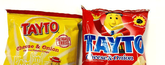 Packs of Tayto Cheese and Onion
