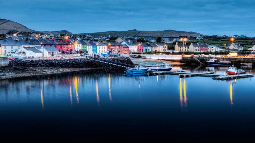 Evening light in Portmagee, Kerry
