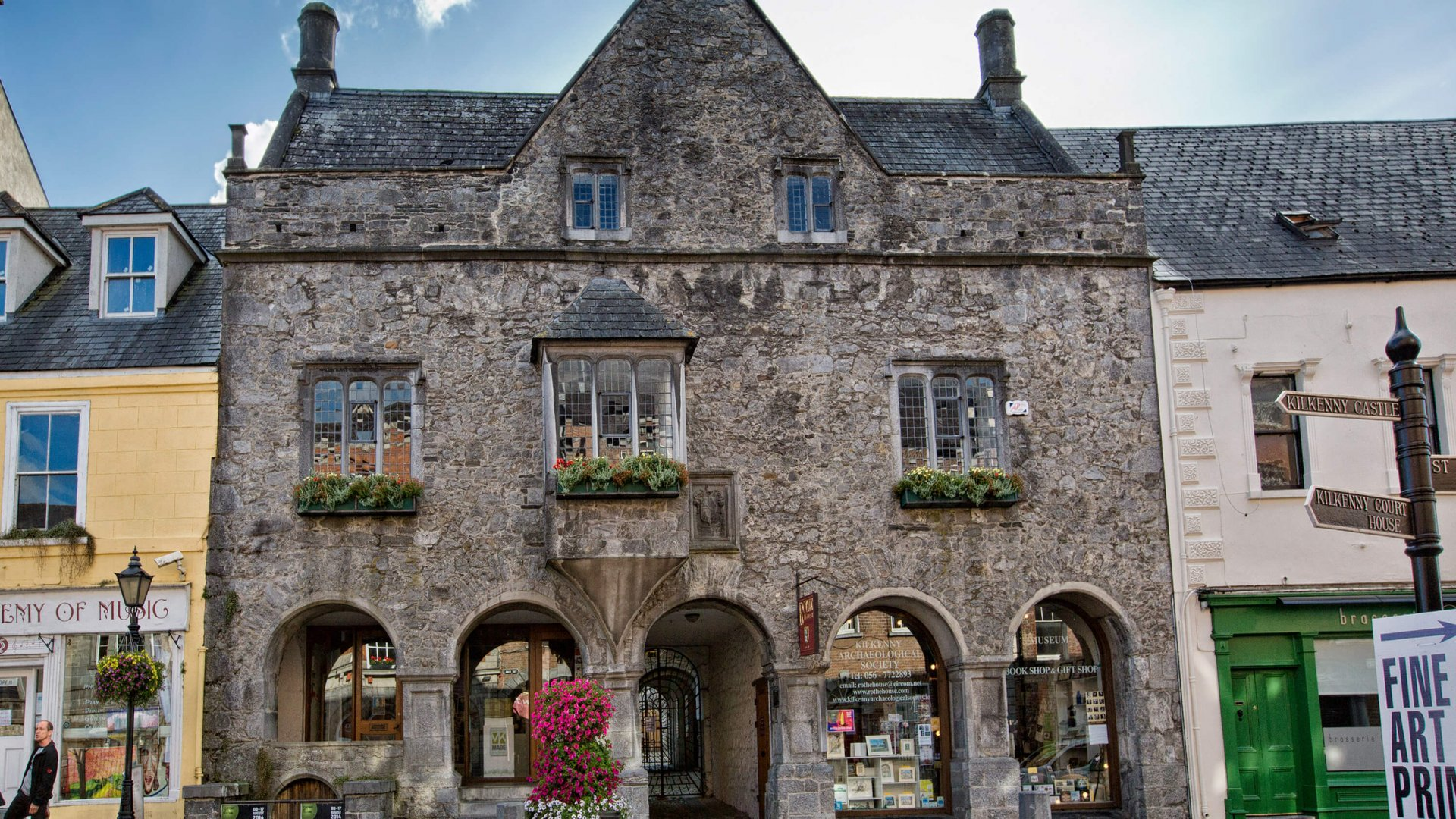 Facade of medieval Rothe House in Kilkenny