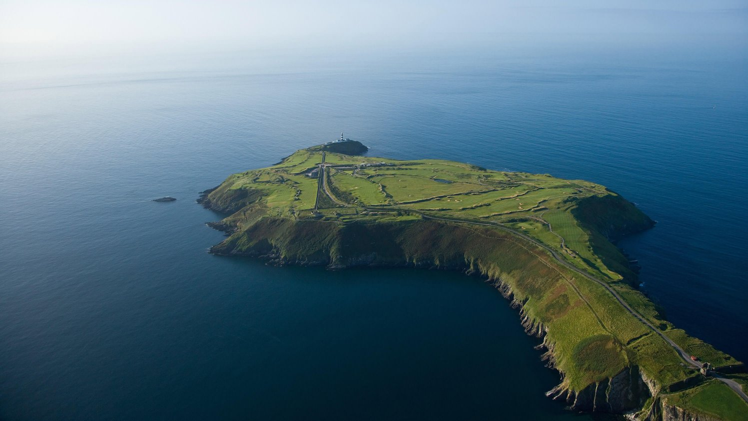 The Old Head of Kinsale, with lighthouse and golf course