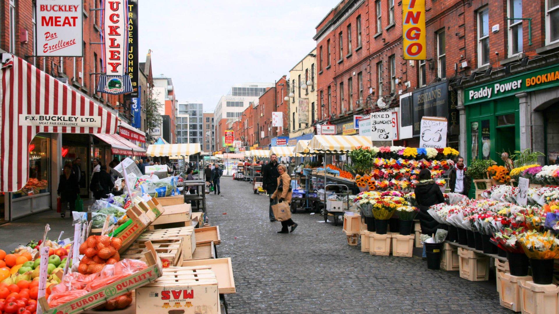 Moore Street market in Dublin